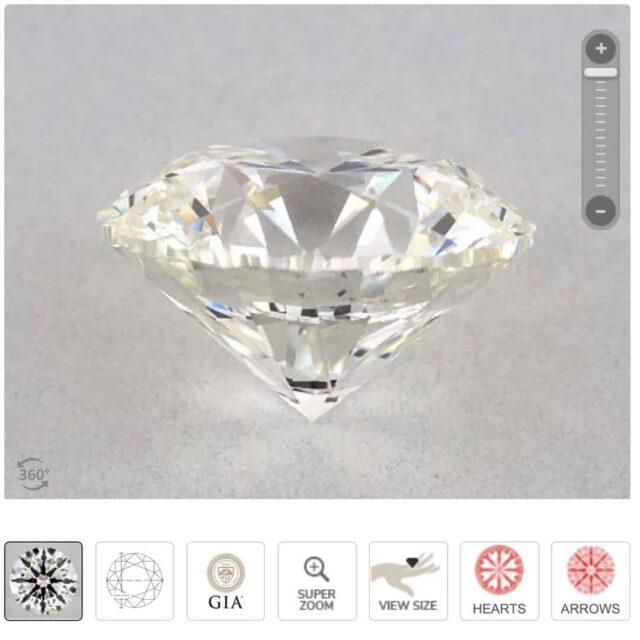 J-color diamond side profile.