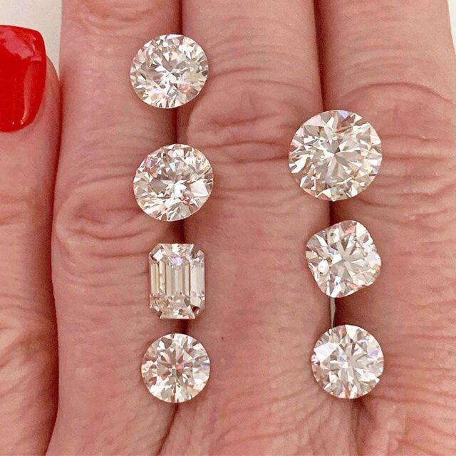 Brian Gavin Signature Round, Cushion, Emerald cut diamonds.