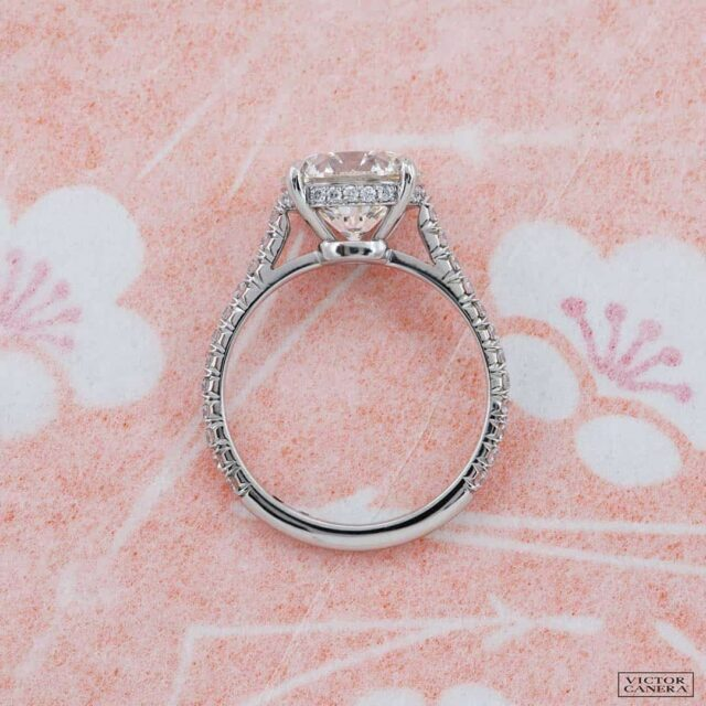 Side Profile Evelyn Solitaire