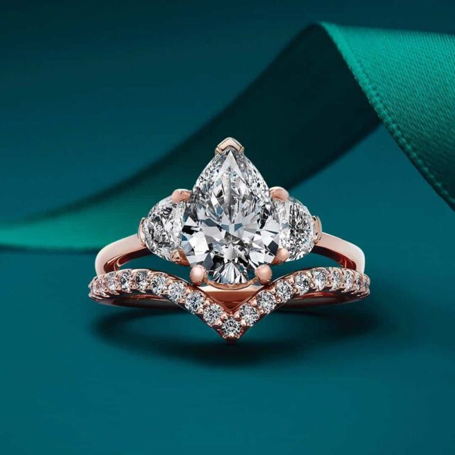 Half Moon 3-stone engagement ring.