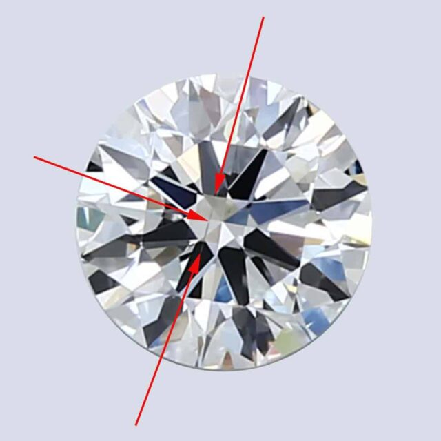 Example of SI1 Diamond Clarity Grade.