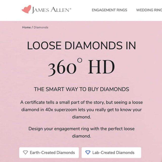 Loose Diamonds From James Allen.