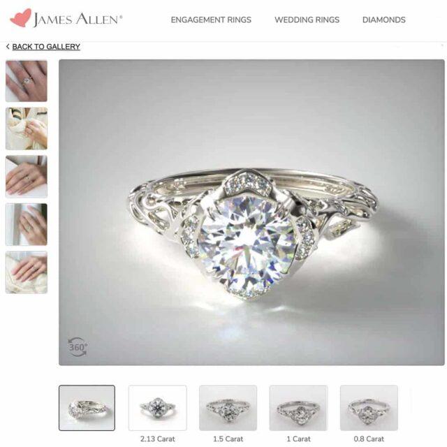 Vintage Filigree Style Engagement Ring.