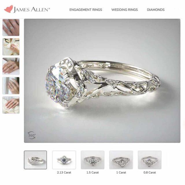 Style Filigree Engagement Ring.
