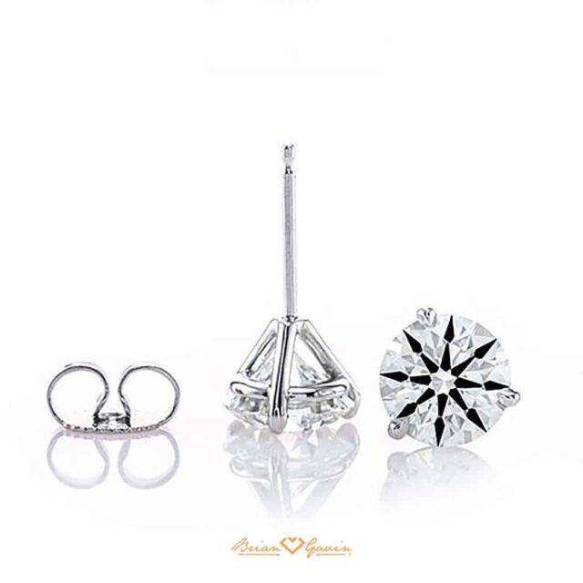 Brian Gavin 3-Prong Martini Diamond Studs.