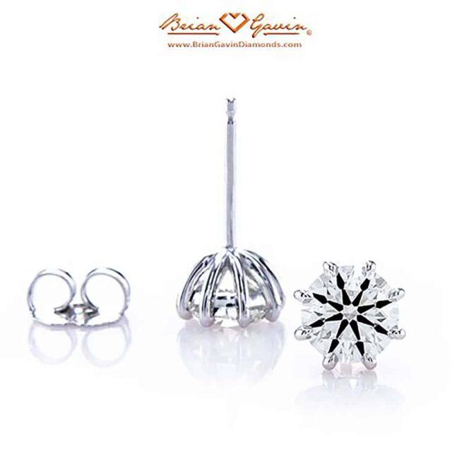 8-prong Diamond Stud Earrings by Brian Gavin.
