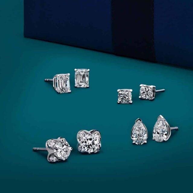 Blue Nile Diamond Stud Earrings.