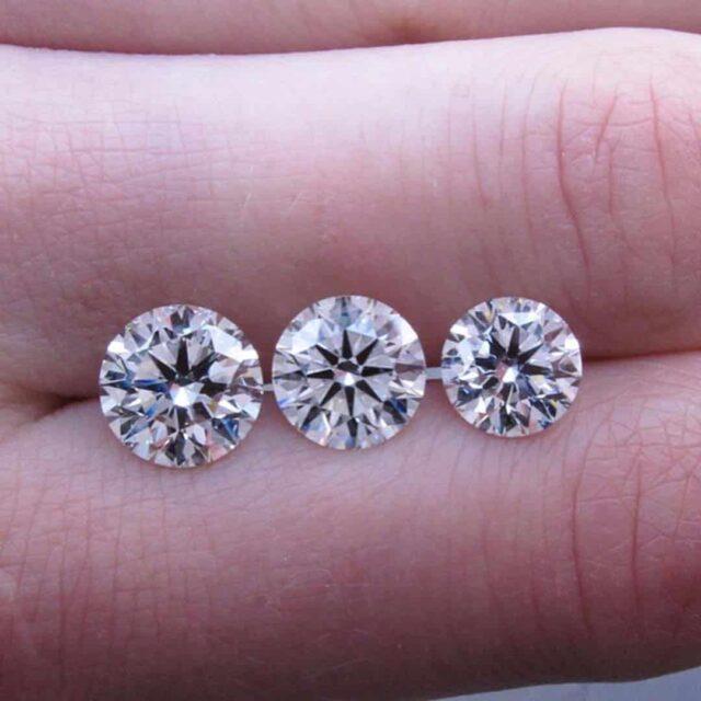 Brian Gavin Signature Diamonds 1.70, 1.50, 1.20 carats.