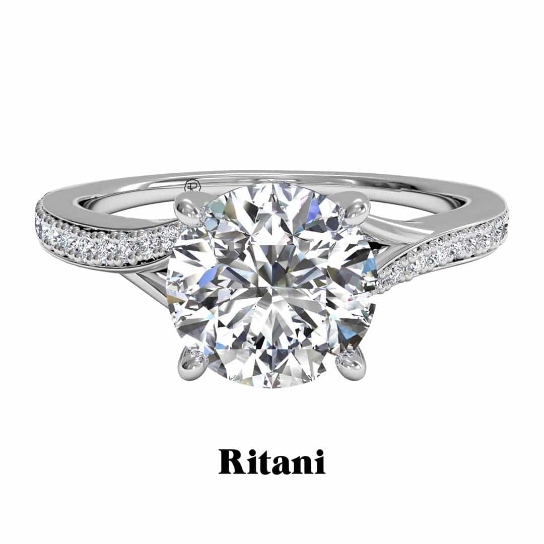Bypass Micropavé Diamond Ritani Engagement Rings.