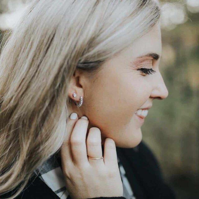 Diamond Studs and Dangle Earrings by Blue Nile.