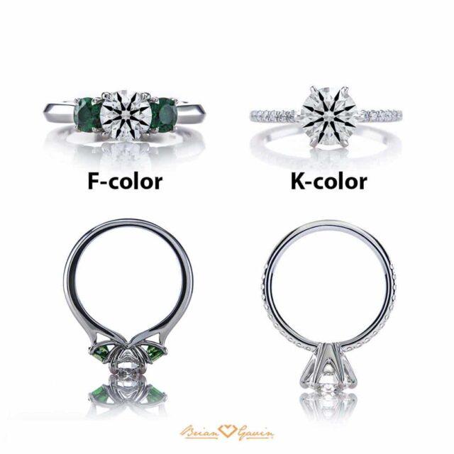 F-color vs K-color Diamond Comparison.