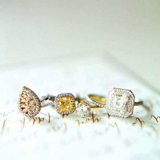 Fancy Color Diamonds Ring Designs Brian Gavin.