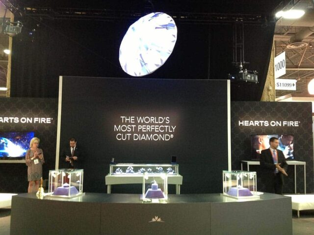 Hearts on Fire Diamonds Booth JCK Trade Show 2013.