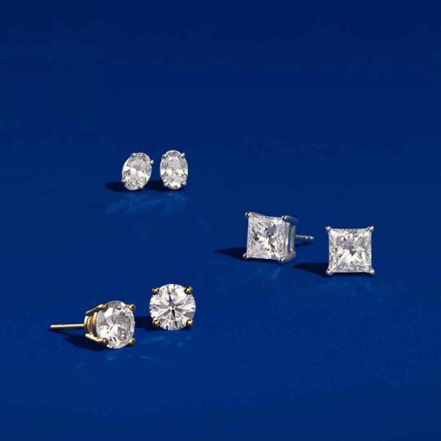 Preset Diamond Studs from Blue Nile.