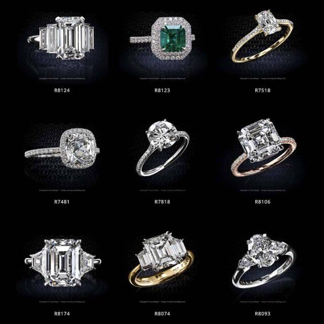 Leon Mege Diamond Engagement Ring Examples.