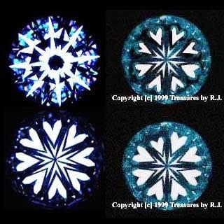 Non Hearts and Arrows Diamonds, Circa 1999.