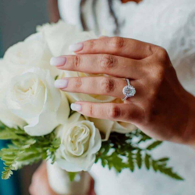 Ritani French Halo Oval Diamond Engagement Ring.
