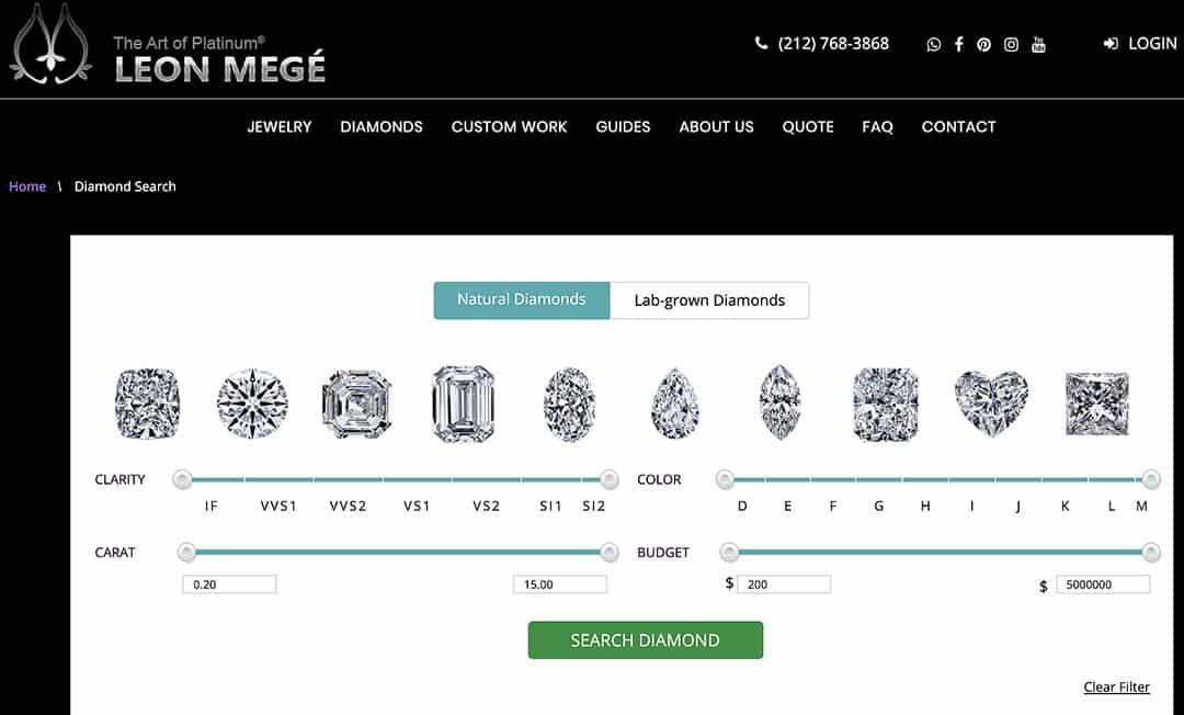Search for Leon Megé Diamonds.