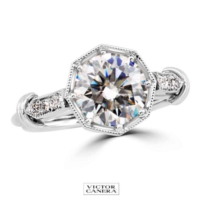 Victor Canera Vintage Filigree Engagement Rings.