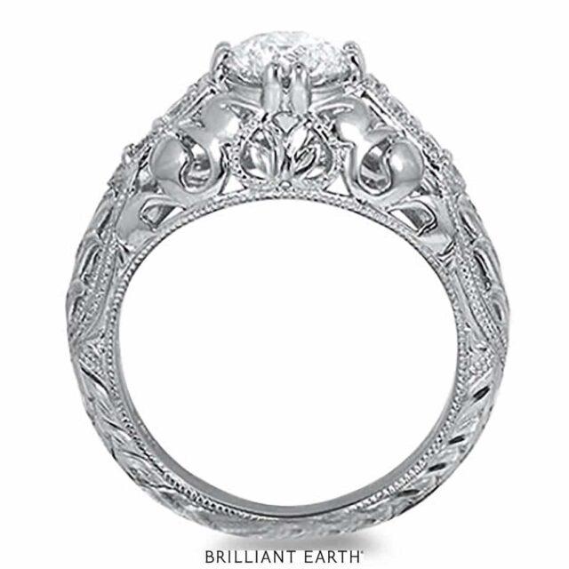 Inspired Vintage Filigree Diamond Engagement Ring.