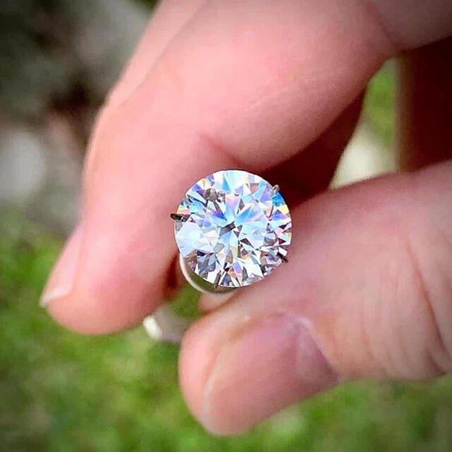 3.50 carat, E-color, VVS-1 clarity, Black by Brian Gavin Diamond.