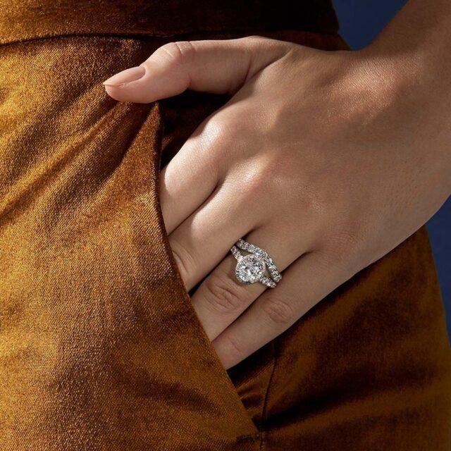 Bella Vaughan for Blue Nile Roma diamond engagement ring
