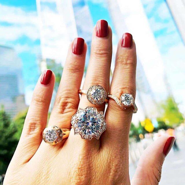 Big Diamond Rings Brian Gavin 8.10 carat Signature.