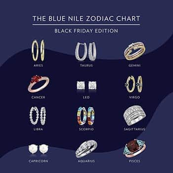 Blue Nile Zodiac Chart Black Friday Edition Specials Coupons