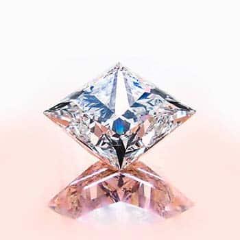Brian Gavin Signature Princess Cut Diamond with Three Chevron Facets.