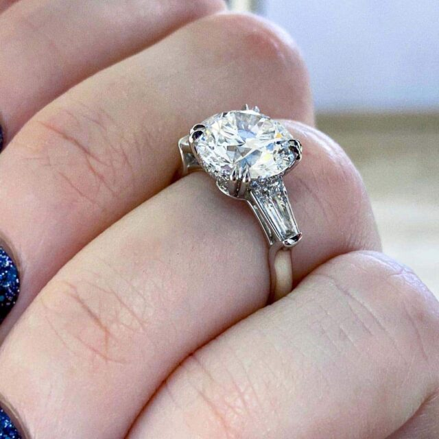 Tapered Baguette Engagement Ring Round Diamond Buying Guide