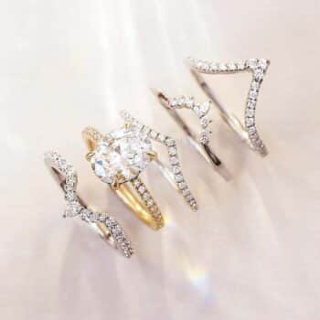Brilliant Earth Oval Diamond Pave Setting and Ring Guards.