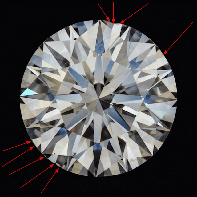 Chipped Diamonds Assessment for Recutting.