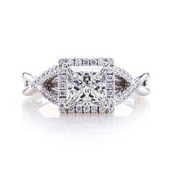 Custom Designed Princess Cut Diamond Ring by Brian Gavin.