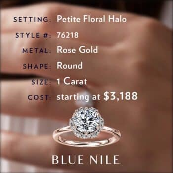 Diamond Buying Guide Blue Nile Petite Floral Halo.
