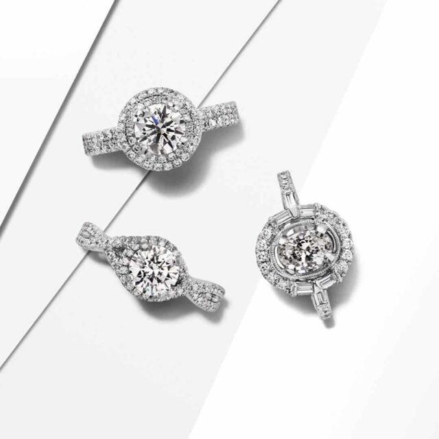 Diamond Buying Tutorial Halo Engagement Rings.