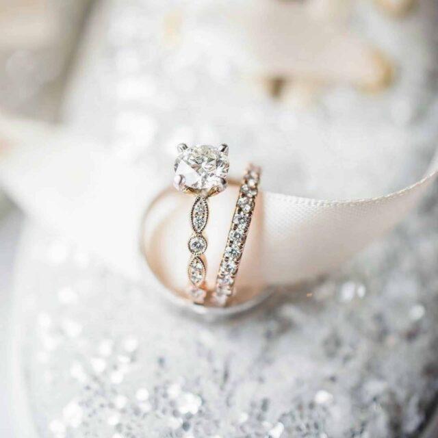 Chipped Diamonds vs. Melee Blue Nile Milgrain Marquise Dot Ring.