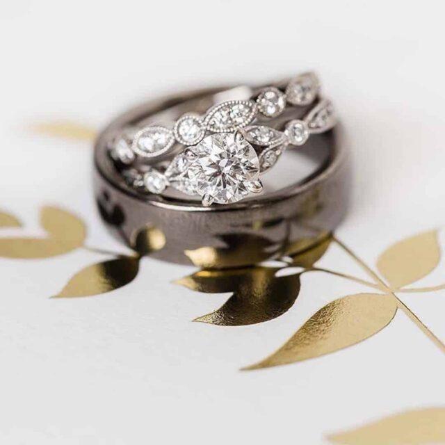 Petite Vintage Leaf Pave Engagement Ring Blue Nile.