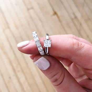 Princess Cut Diamond Solitaire by Blue Nile.