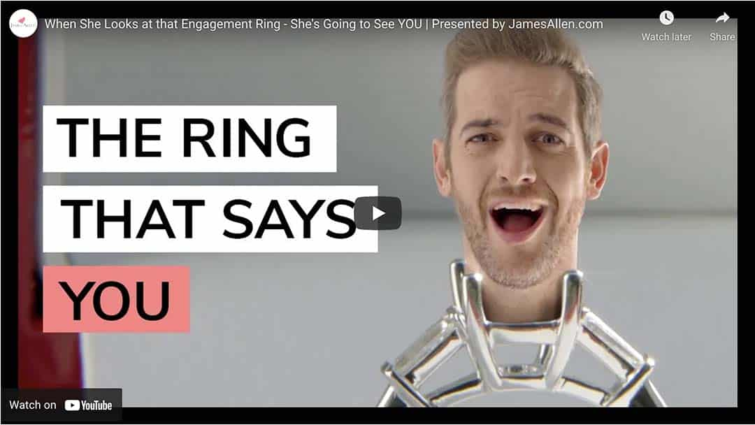 2-carat ring buying guide video by James Allen via YouTube.