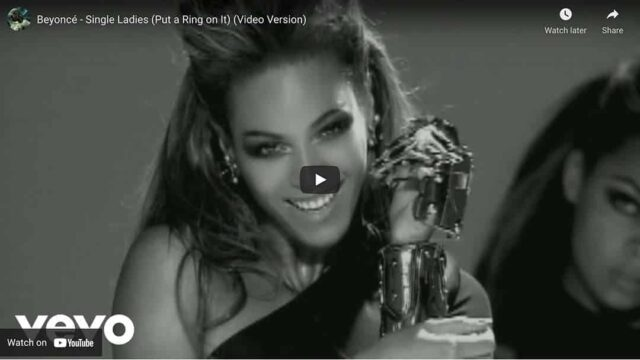 Hit Single Put a Ring On It by Beyonce on YouTube