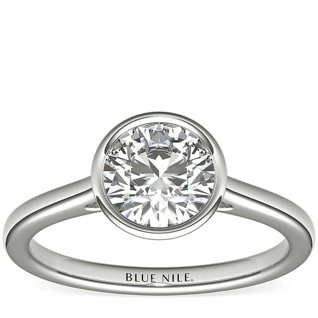 Blue Nile Bezel Solitaire Diamond Cut Quality.