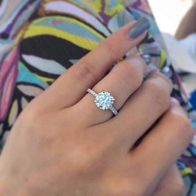 Blue Nile Diamond Cut Quality Shines Through.