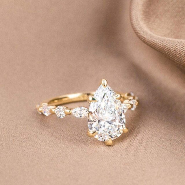 Pear-shaped Brilliant Earth Diamonds Engagement Ring.