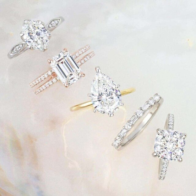 Popular Diamond Shapes and Ring Styles from Brilliant Earth.