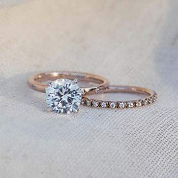 Buying an Engagement Ring James Allen Sleek Accent Rose Gold