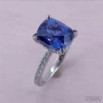 Sapphire engagement ring by Victor Canera.