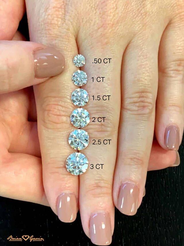 How big diamond carat weight round Brian Gavin Signature