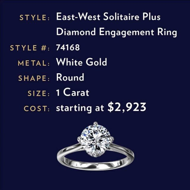 Diamond Clarity Affects the Price of Blue Nile East West Solitaire.