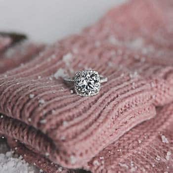 James Allen Cushion Outline Halo Engagement Ring.