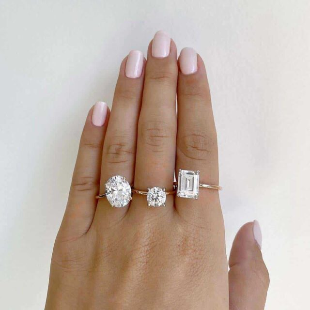 James Allen Fancy Shape Diamond Engagement Rings.